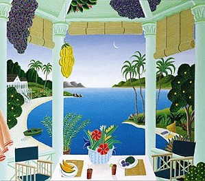 Thomas McKnight-Hana Cove Deluxe Format On Canvas