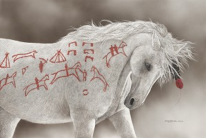 Judy Larson-Advertising Horse