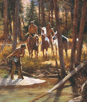 Howard Terpning-Bear Tracks