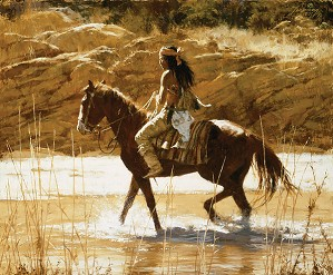 Howard Terpning-THE CAPTAINS HORSE