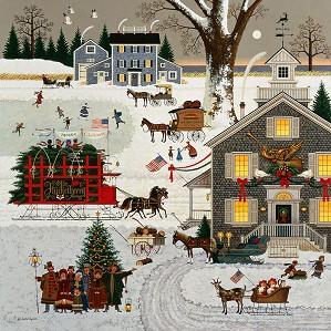 Charles Wysocki-Cape Cod Christmas ANNIVERSARY EDITION