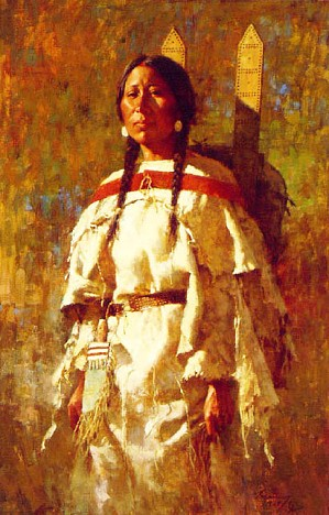 Howard Terpning-CHEYENNE MOTHER