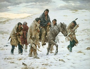Howard Terpning-CHIEF JOSEPH RIDES TO SURRENDER