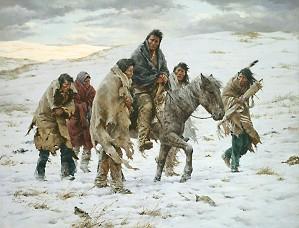 Howard Terpning-CHIEF JOSEPH RIDES TO SURRENDER