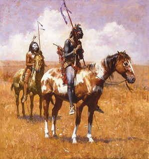 Howard Terpning-COUP STICKS AND WAR PAINT