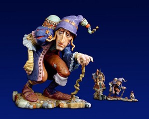 James Christensen-There Was A Crooked Man Porcelain Sculpture