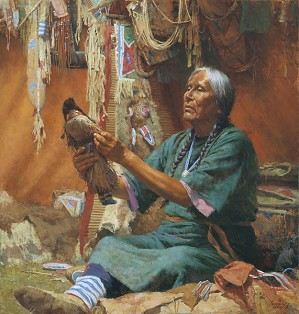 Howard Terpning-NEW DOLL FOR MY GRANDMOTHER
