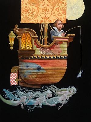 James Christensen-Fishing for Mermaids