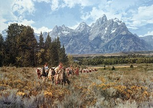 Paul Calle-In the Valley of the Grand Tetons