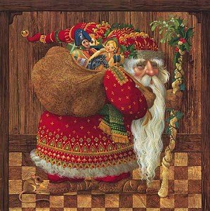 James Christensen-OLDE WORLD SANTA