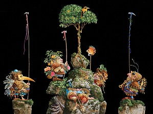 James Christensen-SIX BIRD HUNTERS IN FULL CAMOUFLAGE