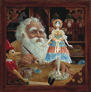 James Christensen-The Gift for Mrs. Claus