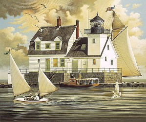 Charles Wysocki-Rockland Breakwater Light ANNIVERSARY EDITION