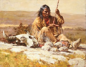 Howard Terpning-SEEKING WISDOM THROUGH THE PIPE