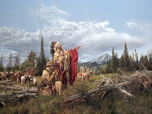Paul Calle-In the Land of the Teton Sioux