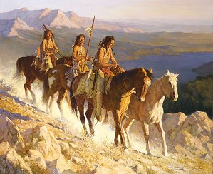 Howard Terpning-TRAIL ALONG THE BACKBONE
