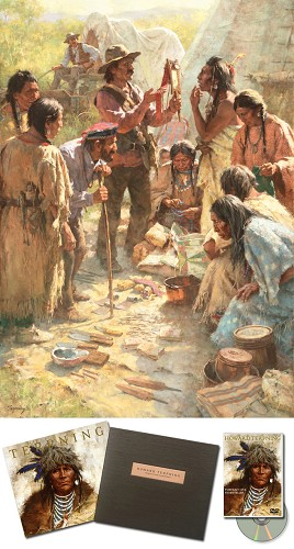 Howard Terpning-Traders Among the Crow