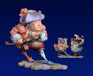 James Christensen-Tweedle Dee Porcelain Sculpture