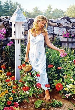 Tom Sierak-Garden Beauties Canvas Giclee