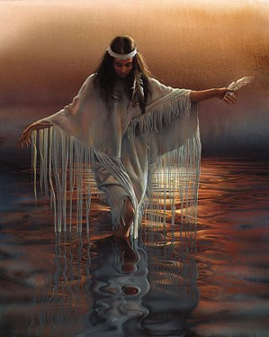 Lee Bogle-Golden Reflections Artist Proof Hand Enhanced