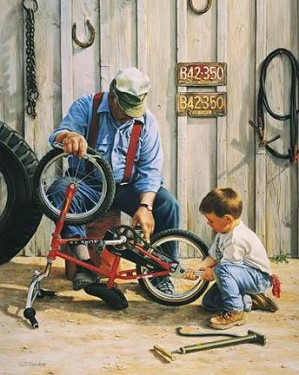 Tom Sierak-Grandson�s Helper Canvas Giclee
