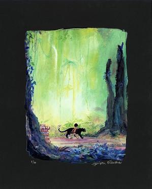 Harrison Ellenshaw-Mowgli and Bagheera - From Disney The Jungle Book