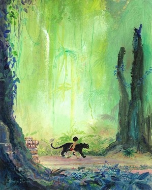 Harrison Ellenshaw-Mowgli and Bagheera - From Disney The Jungle Book