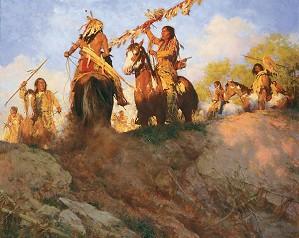 Howard Terpning-Sunset for the Comanche MASTERWORK