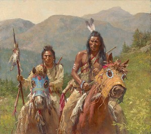 Howard Terpning-Mystery of the Crow Medicine Horse Masks