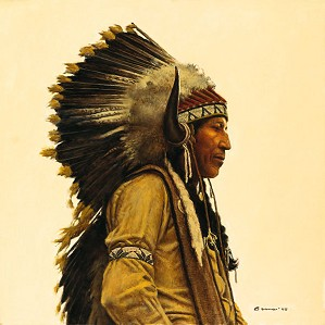James Bama-Black Elk´s Great Grandson Limited Edition Canvas