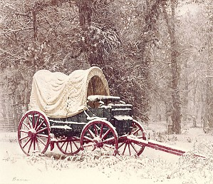 James Bama-Chuck Wagon in the Snow ANNIVERSARY EDITION ON