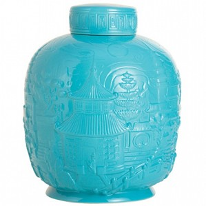 Franz Porcelain-Ginger Jar, China Impression (turquoise)