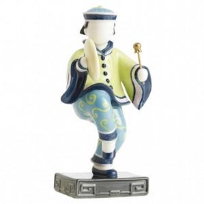 Franz Porcelain-Figurine, Bao Boy w/ gong