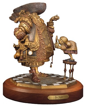 James Christensen-A Lawyer More than Adequately Attired in Fine Print BRONZE