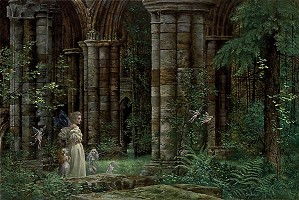 James Christensen-Queen Mab In The Ruins Limited Edition Print