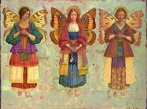 James Christensen-Faith Hope And Charity Masterwork Canvas Edition