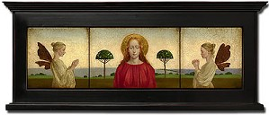 James Christensen-Madonna With Two Angels Framed Limited Edition Canvas