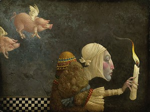 James Christensen-If Pigs Could Fly Artist Proof Canvas