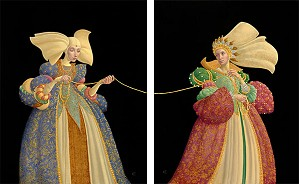 James Christensen-The Tie That Binds Limited Edition DIPTYCH