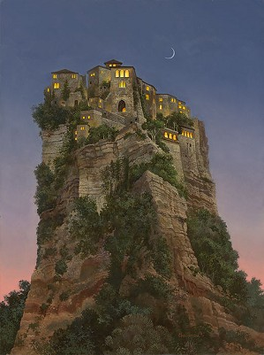 James Christensen-City on a Hill Limited Edition Canvas