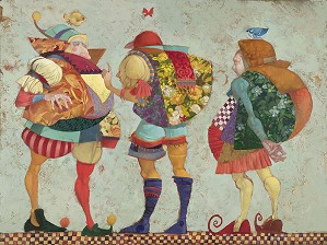 James Christensen-Three Clowns Limited Edition Canvas