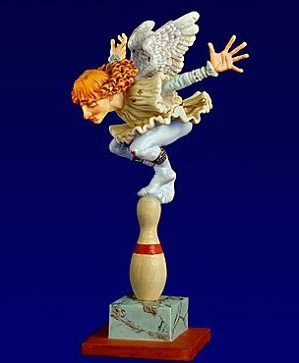James Christensen-How Many Angels Can Dance on the Head of a Pin? Porcelain Figurine