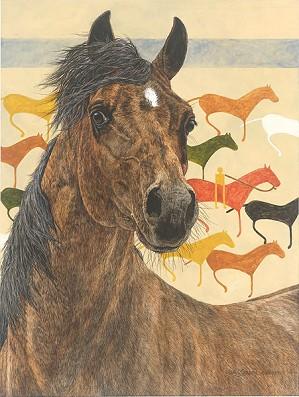 Judy Larson-Elk Dog Tipi