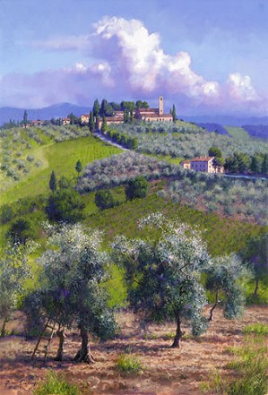 June Carey-Oil Trees of Chianti