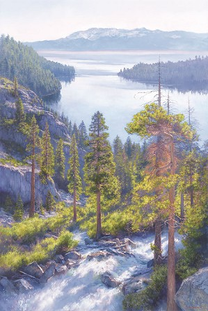 June Carey-Cascade of Light, Emerald Bay, Lake Tahoe