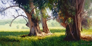 June Carey-Eucalyptus Trunks SMALLWORK EDITION ON