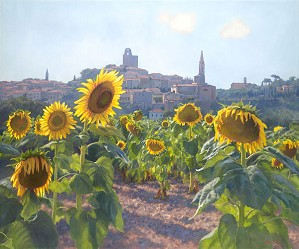 June Carey-Sunflowers of Castiglion Fiorentino MASTERWORK EDITION ON