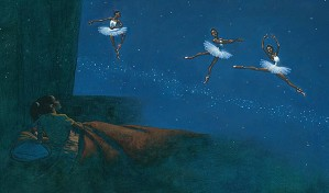 Kadir Nelson-Dancing On The Milky Way Giclee