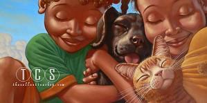Kadir Nelson-Puppy Love Giclee Remarque