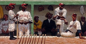 Kadir Nelson-Kansas City Dugout Paper Artist Proof